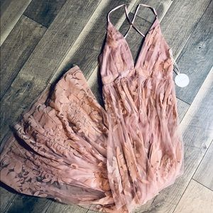 NWT Blush Floral Maxi Dress from Vici